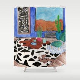 Mid Century Desert Home Shower Curtain