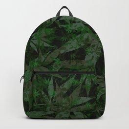 Weed leaves pattern Backpack