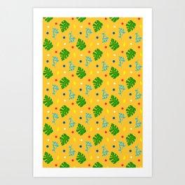 Ma-Ma Monstera: Mustard Seed Art Print
