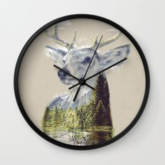 Mo'deer' Nature Wall Clock