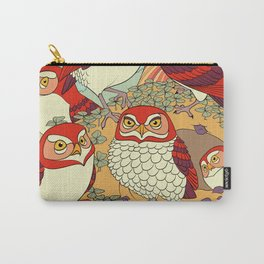 Burrowing Owl Family Carry-All Pouch