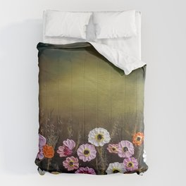Stormy flowers Comforters