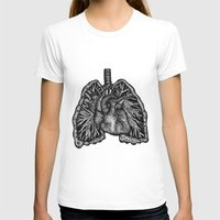 lungs T-shirts featuring LUNGS by Fanny Andy