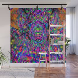 Psychedelic Gradient Symmetry 7 Wall Mural