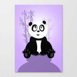 Panda Girl - Purple Canvas Print