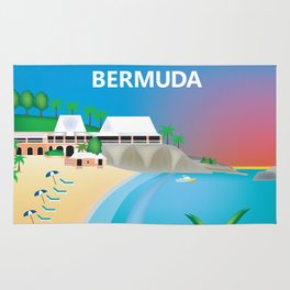 Bermuda - Skyline Illustration by Loose Petals Rug