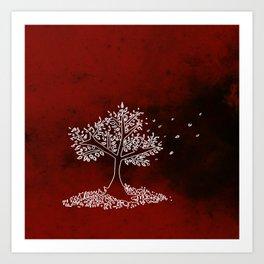 Wind Red Art Print