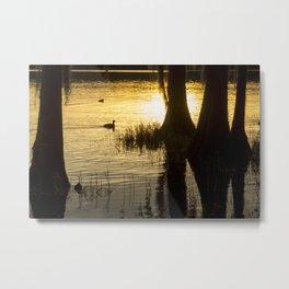 Sunset at Golden Pond Metal Print