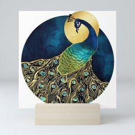 Golden Peacock Mini Art Print