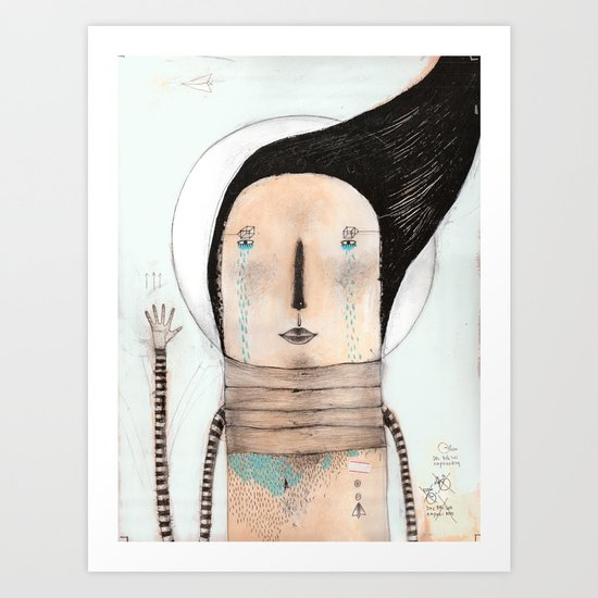 Letting go doesn't mean giving up... it means moving on.  Art Print
