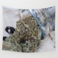 medical Wall Tapestries featuring Silver Afghan Medical Marijuana by BudProducts.us