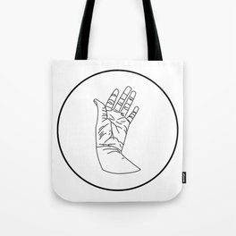 wrinkly hand Tote Bag