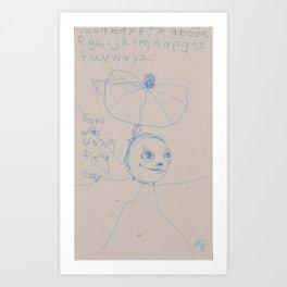 Flying Cape Art Print