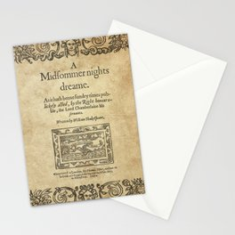 Shakespeare. A midsummer night's dream, 1600 Stationery Cards