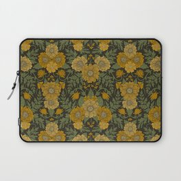 Dark Fall/Winter Floral in Yellow & Green Laptop Sleeve