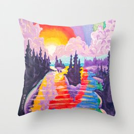 80's SUNDOWN Throw Pillow