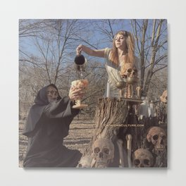 drink beyond thirst occult witch ritual Metal Print