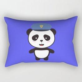 Panda Police Officer Rectangular Pillow