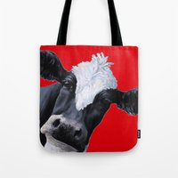 emily rickard Tote Bags featuring Emily by Design i