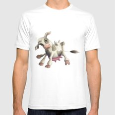 Little cow White Mens Fitted Tee MEDIUM