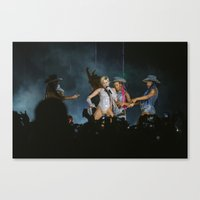 miley cyrus Canvas Prints featuring Miley Cyrus by Fabricio Obljubek