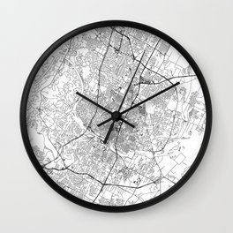 Austin White Map Wall Clock