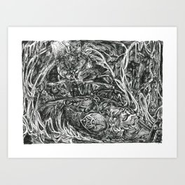 Inktober 2018: The Salvaged Art Print