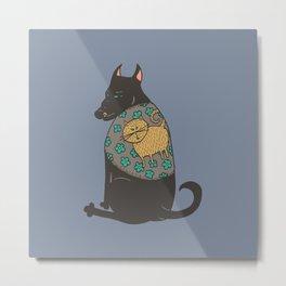 Black Dog in a Kitten Coat Metal Print