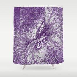 Splatter in Grape Shower Curtain