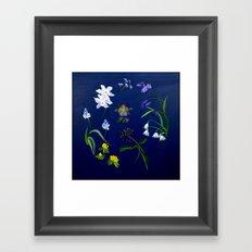 Transient - winter blooms Framed Art Print