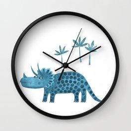 Triceratops Dinosaur Wall Clock