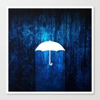 umbrella Canvas Prints featuring umbrella by Darthdaloon