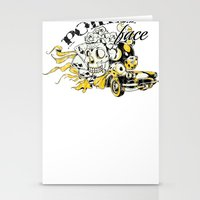 poker Stationery Cards featuring Poker face by Tshirt-Factory