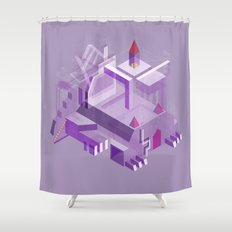 Den of the Headless Lion in Purple and Lavender Shower Curtain
