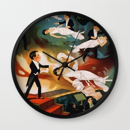 Vintage Magician Thurston Levitation Wall Clock