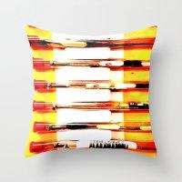 kit king Throw Pillows featuring Eyeglasses Kit by Jeffrey J. Irwin