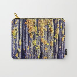 Mossy Wood Texture Carry-All Pouch