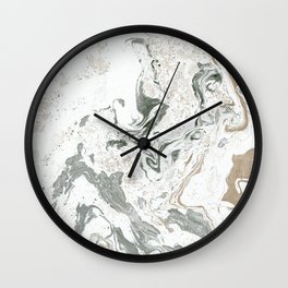 Marbled Paper Pattern Wall Clock