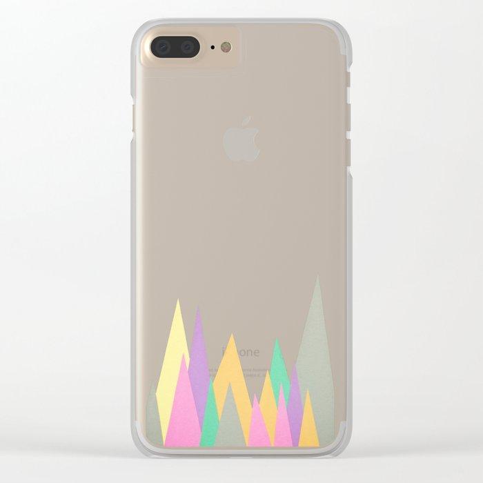 Pastel Peaks Clear iPhone Case