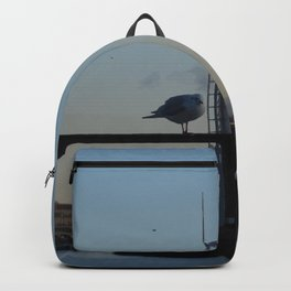 Scottish Photography Series (Vectorized) - Seagull Flock Over the Clyde Backpack