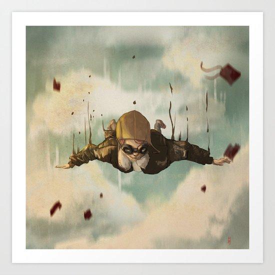 -Plane  crasH- Art Print