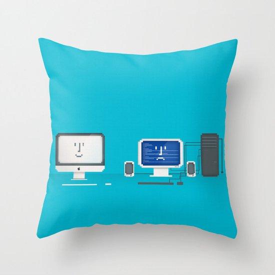 Apple iMac + PC Throw Pillow
