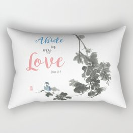 Abide in my Love Rectangular Pillow