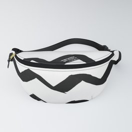 Ink Chevron Fanny Pack