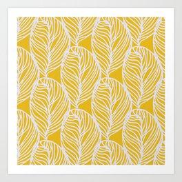 Petaluma, yellow Art Print