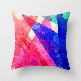 Rainbow Shards Throw Pillow