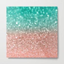 Coral Meets Sea Metal Print