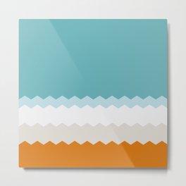 Sea waves palette Metal Print