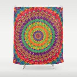 Mandala 458 (NEON) Shower Curtain