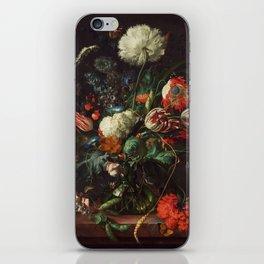 Jan Davidsz de Heem - Vase of Flowers iPhone Skin